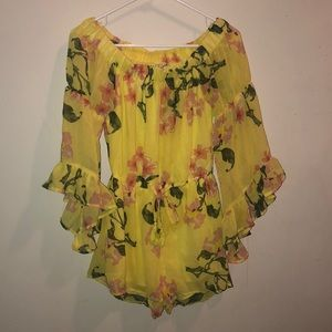 An Adorable, Strapless, Floral Romper